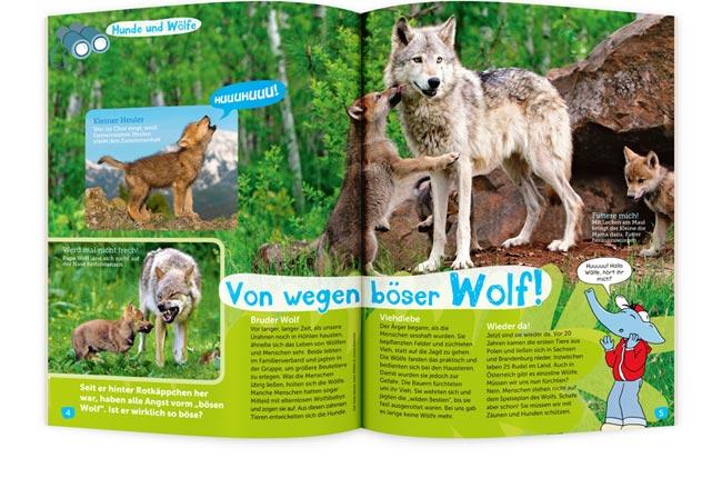 BIMBO Kinderzeitschrift Wolf
