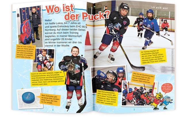 OLLI UND MOLLI Kinderzeitschrift Eishockey