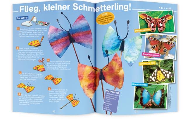 OLLI UND MOLLI Kinderzeitschrift Schmetterling