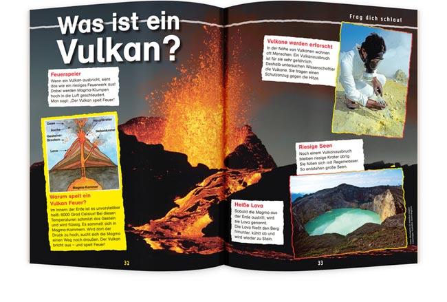 OLLI UND MOLLI Kinderzeitschrift Vulkan