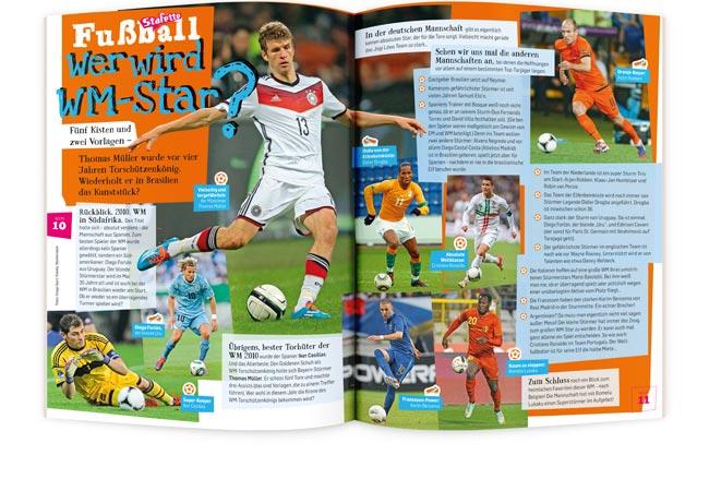STAFETTE Kinderzeitschrift WM Star