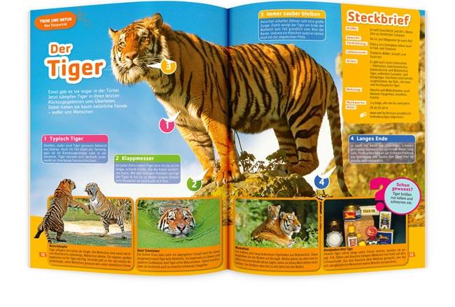 TIERFREUND Kinderzeitschrift Tiger