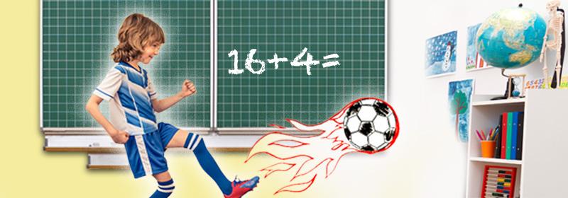 Rechenspiele für Fußballfans