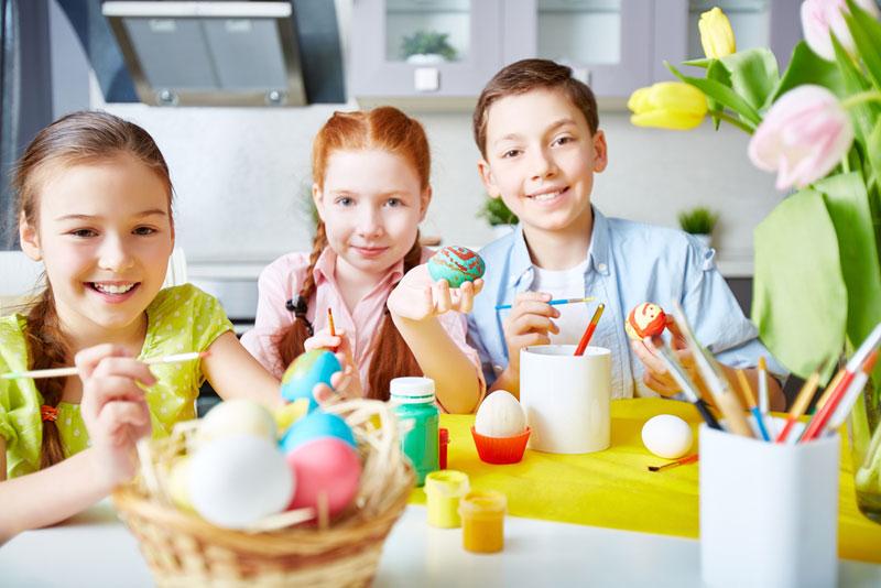 Ostern: Lesen, Rechnen, Basteln