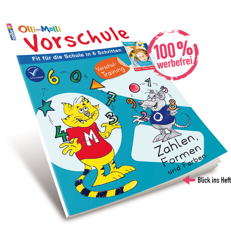 Olli und Molli Vorschule - Blick ins Heft