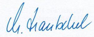 Unterschrift Manuela Hantschel, Vorsitzende Bundesverband Leseförderung
