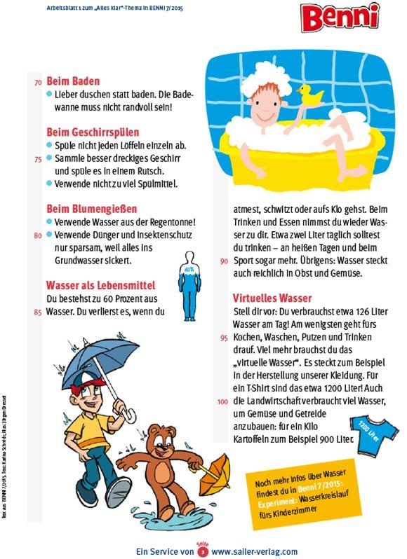 Arbeitsblätter über den Wasserkreislauf 3