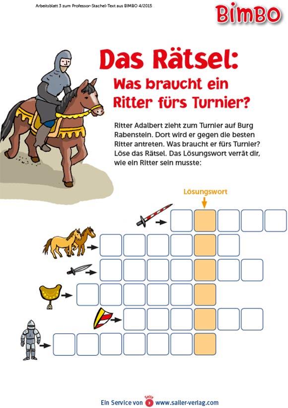 Arbeitsblätter über Ritter und das Mittelalter 3