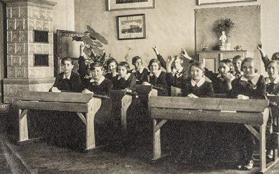 Leben und Schule früher