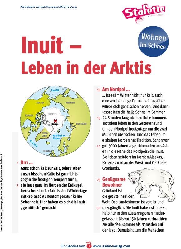 Arbeitsblätter Inuit 1