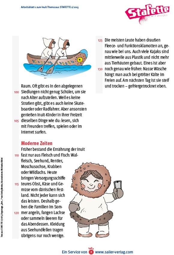 Arbeitsblätter Inuit 3