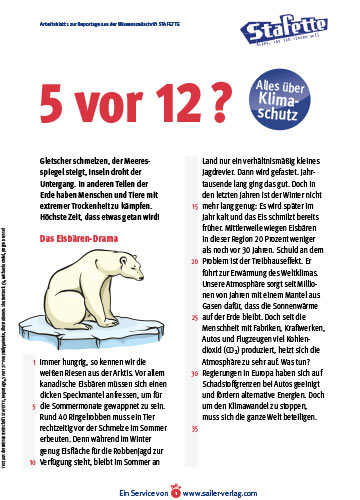 Arbeitsblatt Klimaschutz