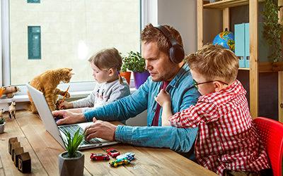 Hilfe! Homeschooling und Homeoffice unter einem Dach
