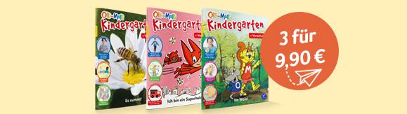 Olli und Molli Kindergarten 3 Ausgaben