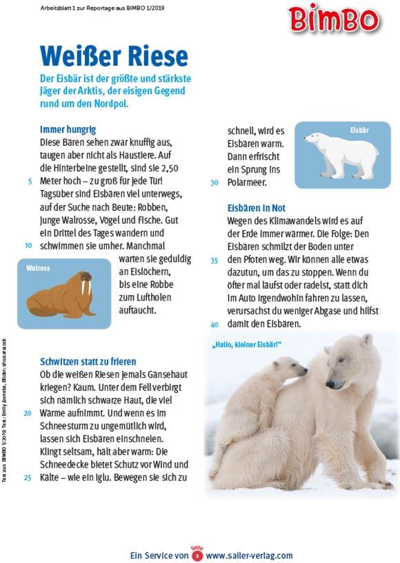 Arbeitsblätter Arktis und Antarktis-3