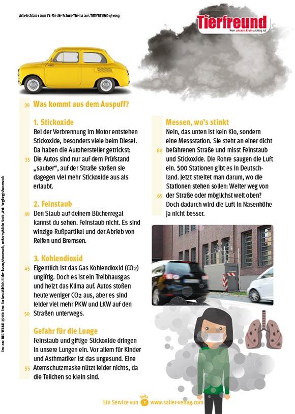 Arbeitsblätter Saubere Luft-2