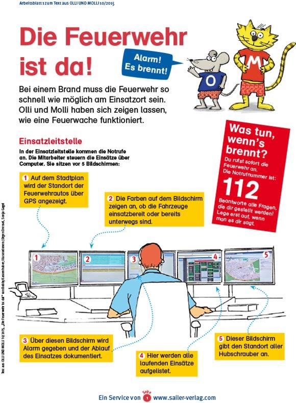 Arbeitsblätter Alles über die Feuerwehr-1