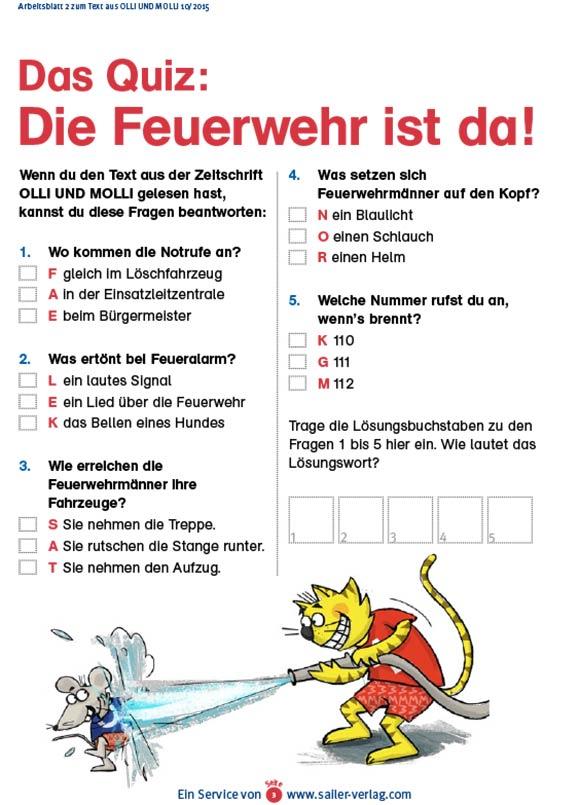 Arbeitsblätter Alles über die Feuerwehr-3