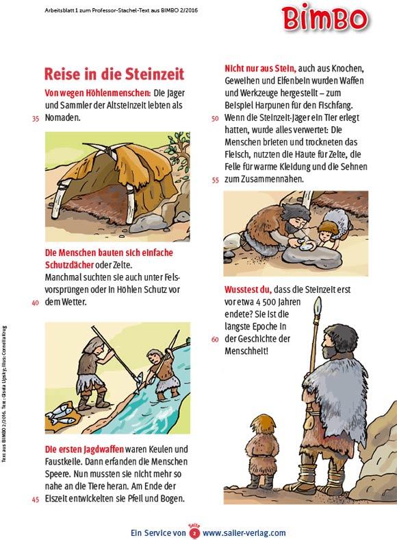 Arbeitsblätter So war die Steinzeit-2