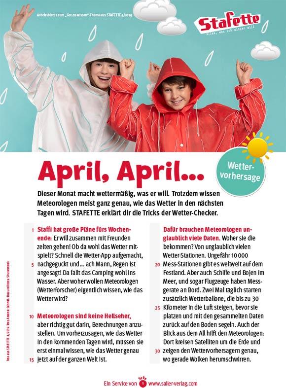 Arbeitsblätter Wetter im April-1