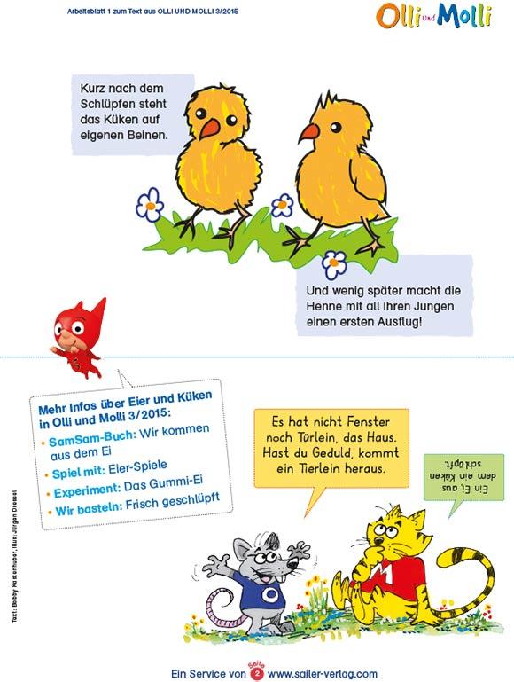 Arbeitsblätter vom Ei zum Küken-2