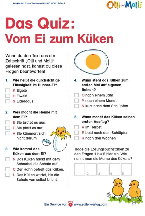 Arbeitsblätter vom Ei zum Küken-3