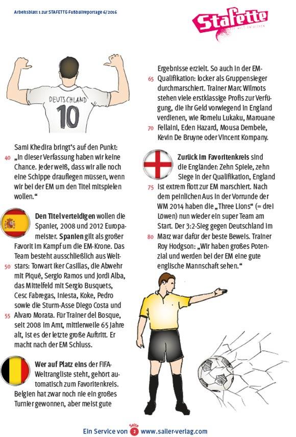 Arbeitsblätter Fußball EM 2016-2
