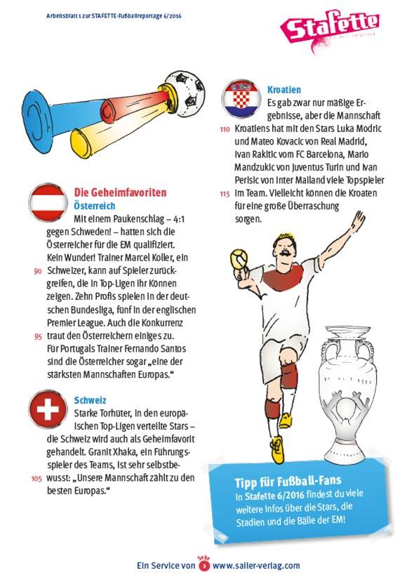 Arbeitsblätter Fußball EM 2016-3