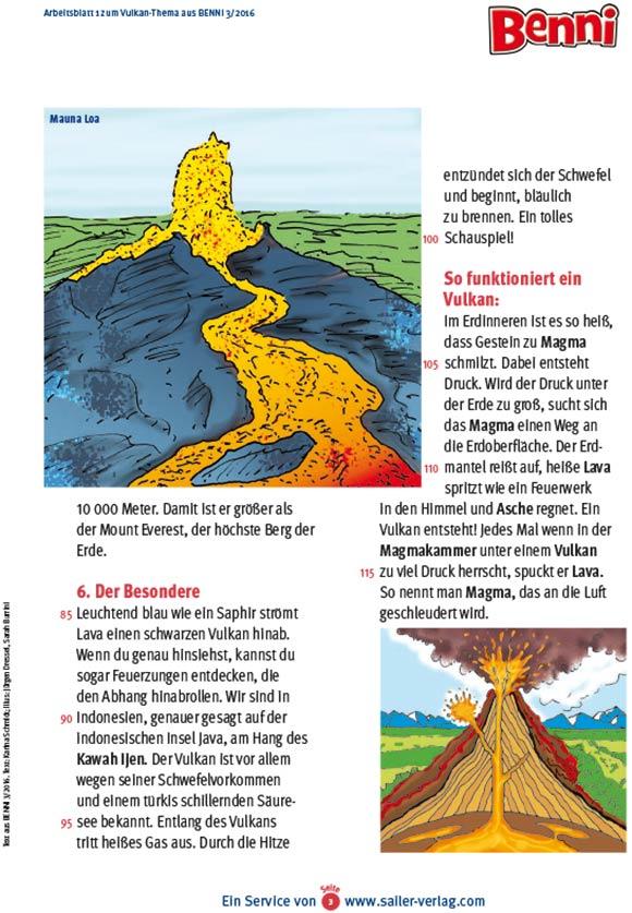Arbeitsblätter Berühmte Vulkane-3