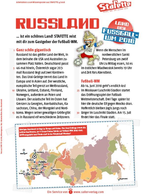 Arbeitsblätter Russland für Grundschüler-1
