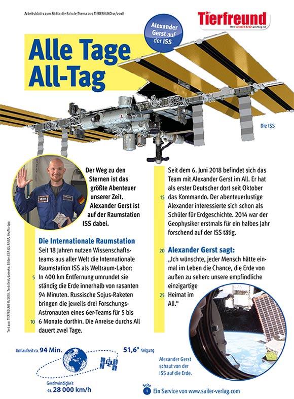 Arbeitsblätter Alexander Gerst auf der ISS-1