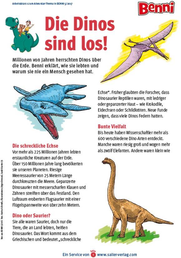 Arbeitsblätter Alles über Dinosaurier-1