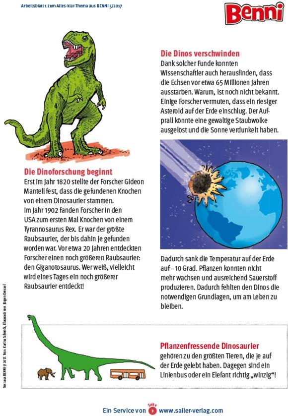 Arbeitsblätter Alles über Dinosaurier-3