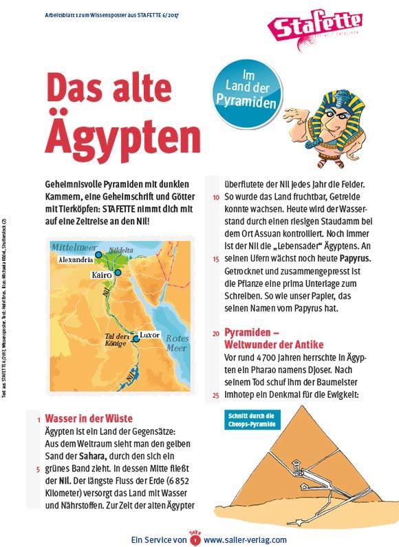 Arbeitsblätter Das alte Ägypten-1