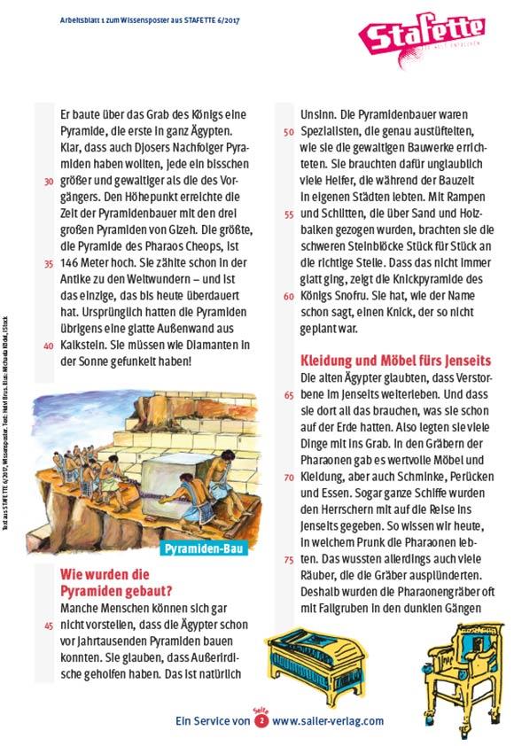 Arbeitsblätter Das alte Ägypten-2
