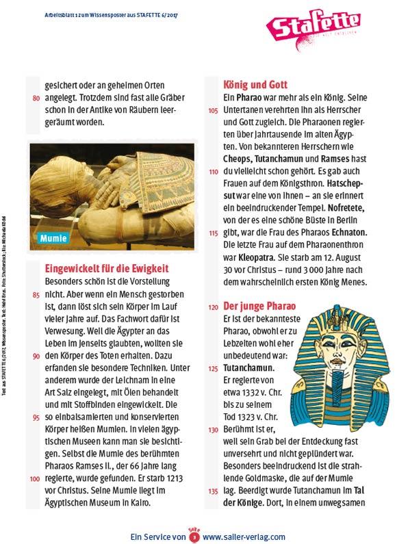 Arbeitsblätter Das alte Ägypten-3
