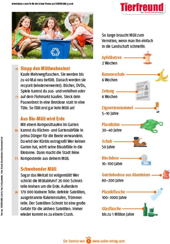 Arbeitsblätter Müll und Plastik-3
