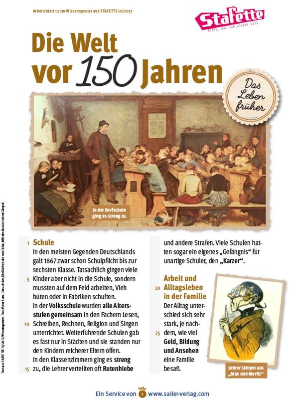 Arbeitsblätter Leben und Schule früher-1