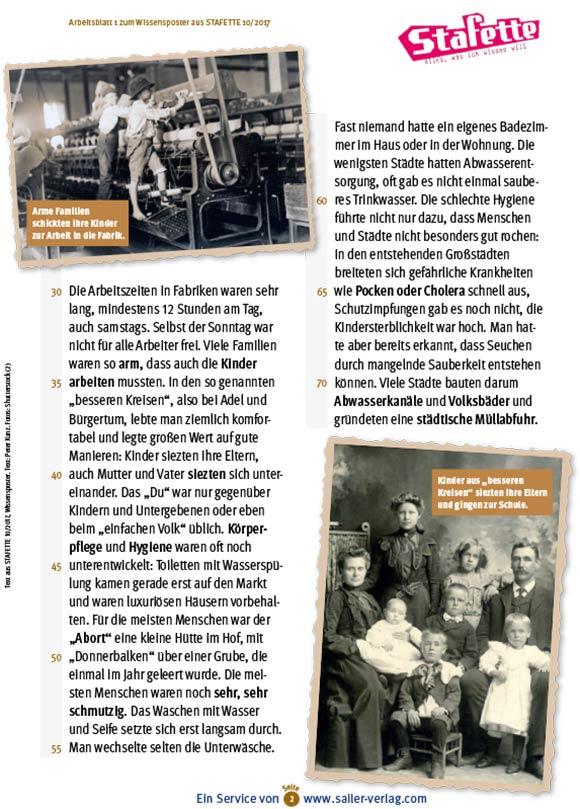 Arbeitsblätter Leben und Schule früher-2