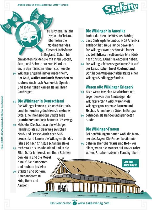 Arbeitsblätter Die Wikinger-2