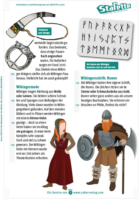 Arbeitsblätter Die Wikinger-3