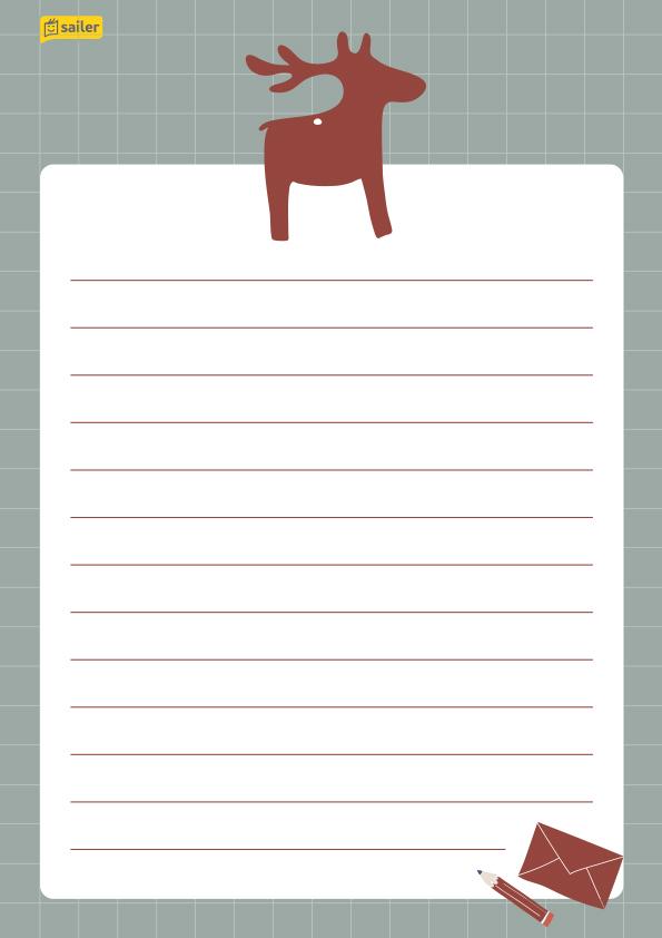 Weihnachts-Briefpapier