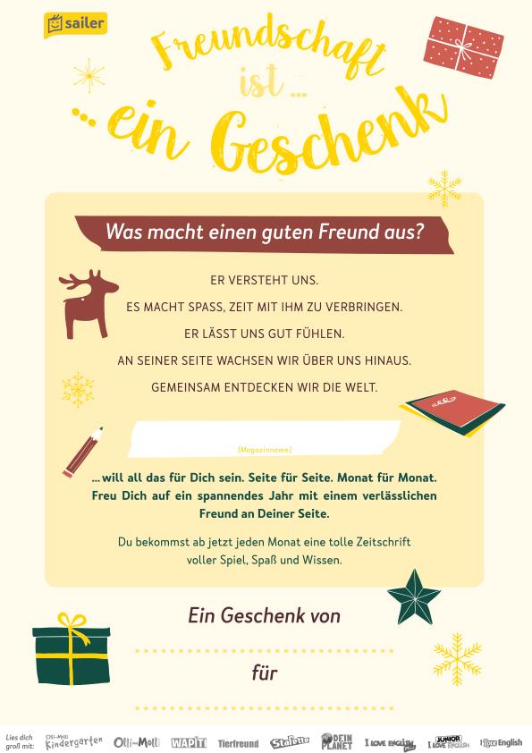 Weihnachts-Geschenkgutschein