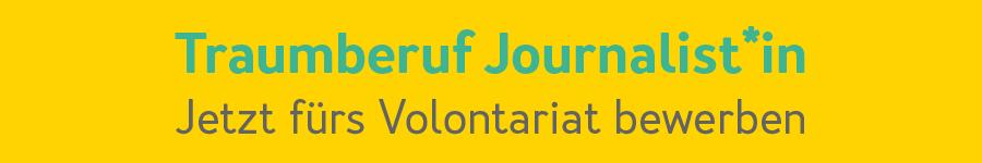 Traumberuf Journalist/in - Jetzt bewerben