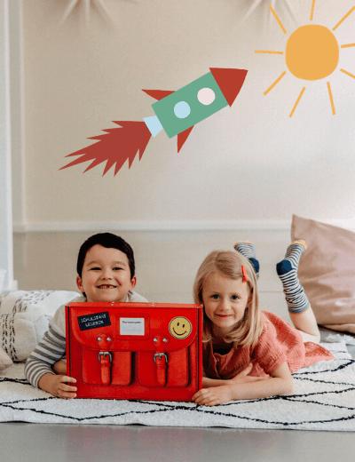 Schulstart Kinder mit Lesebox