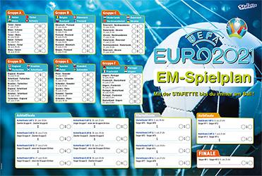 Kostenloser EM-Spielplan