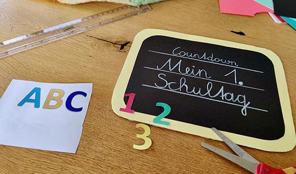Countdown Schulstart Schritt 3