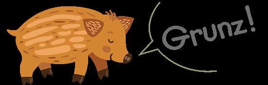 """Wildschwein: """"Grunz"""""""